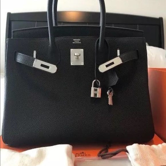 feb005b3977 Hermes Handbags - AUTHENTIC HERMES BIRKIN 35cm TOGO LEATHER SILVER